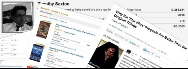 Timothy Sexton's AssociatedContent auhor page